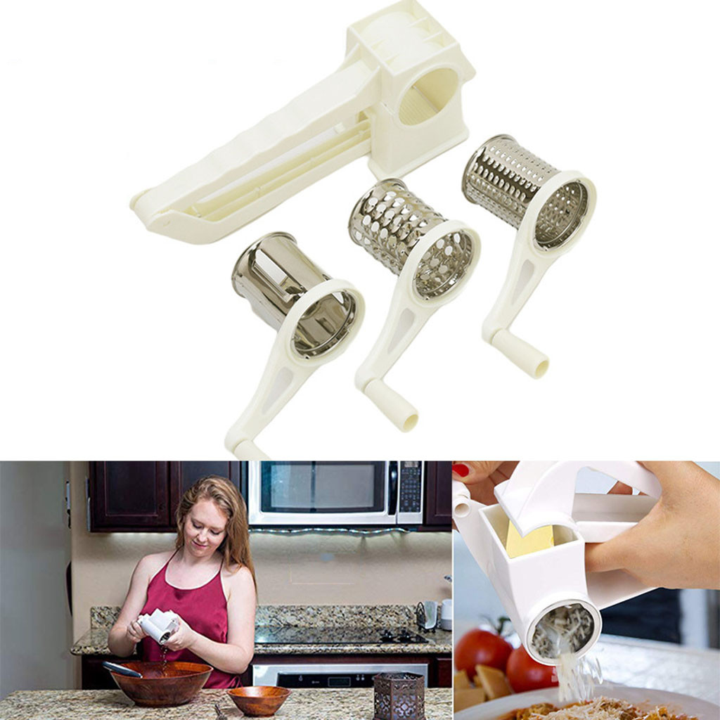 Mua Creative personality rotating stainless steel cheese grater chopper grinder and 3 drum tambourine 20.5 cm x 5.7 cm x 7.7 cm