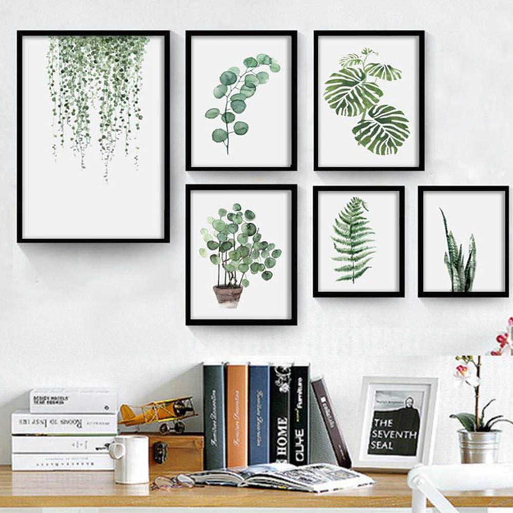 النباتات المائية الاستوائية أوراق البسيط الفن قماش المشارك اللوحة الطبيعة جدار الصورة الحديثة مكتب المنزل غرفة الديكور