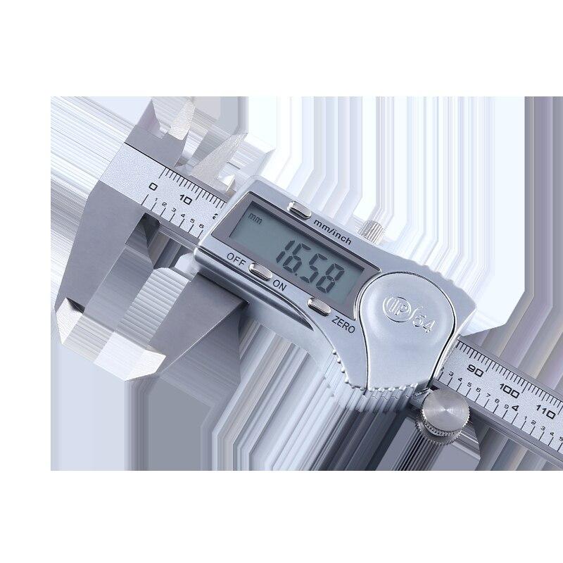 Haute Précision Vernier Étrier acier inoxydable Étrier étrier numérique 0-150mm Étanche Splash règle