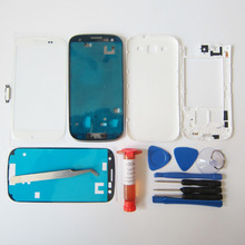 Full Housing Cover for Samsung Galaxy S3 III i9300 Front Bezel & Middle Frame & Rear Case & Screen Glass with tools & UV glue