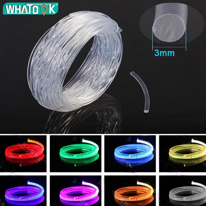 5M 10M 100M 3mm Car Styling DIY Cold Line Flexible Strips Light Interior Decoration For Motorcycle Cars Party Neon LED Strip