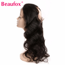 Beaufox 360 Lace Frontal Closure Body Wave Brazilian Human Hair Weave Bundles Free Part Closure With Baby Hair Non-remy Hair