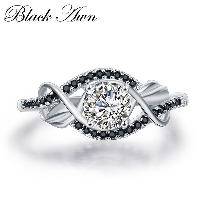 Trendy 3.5 Gram 100% Asli 925 Sterling Perhiasan Perak Hitam & Putih - Perhiasan bagus - Foto 1