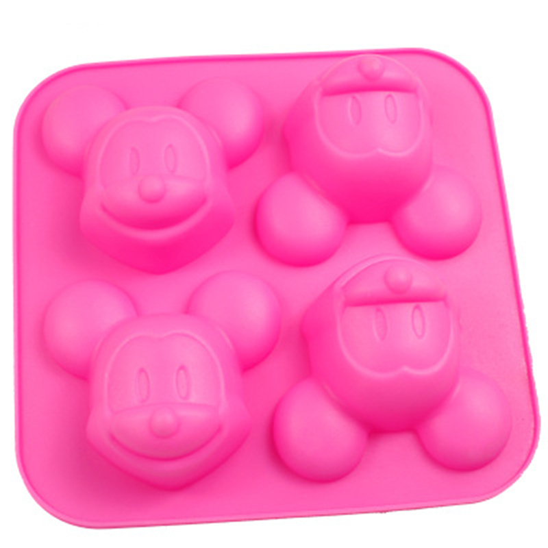 Silicone Mold 3D Mickey Shape Cake Decoration Mould Pudding Jelly Mould Soap Mold DIY Baking Tools Oven Be Applicable Bakeware