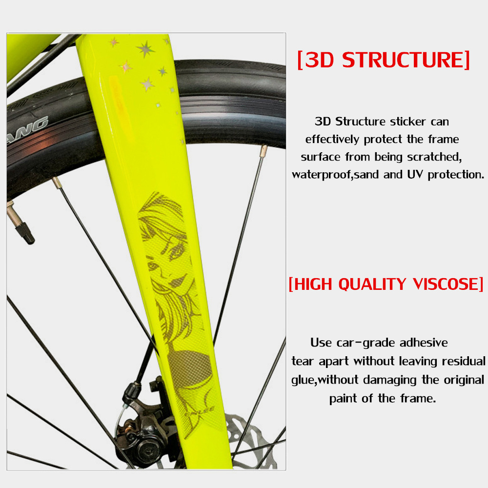 Scratch Resistant DIY Frame Protector Mountain Bike Guard Cover Bicycle Sticker