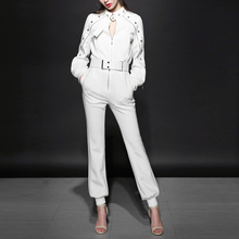 Tracksuits Limited Polyester Full Zipper 2017 Spring New Women's Suit Fashion Temperament Slim Jacket + Casual Pants 2 Sets