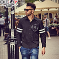 Big Guy Store xl-6xl Plus Size Mens Casual Shirts Long Sleeve 2016 Autumn Fashion Mens Clothing Cotton Male Black Shirt 1217
