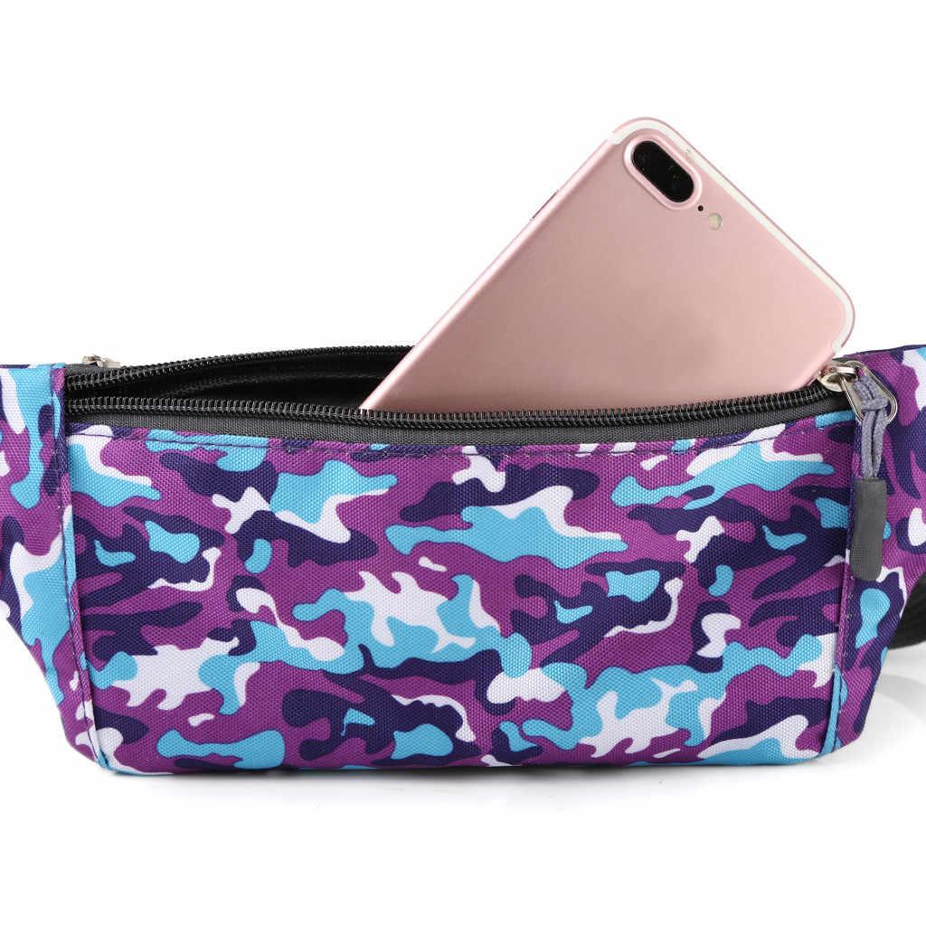 Vrouw Man Tas Unisex Outdoor Waterdichte Functionele Camouflage Crossbody Borst Telefoon heuptasje mannen bolso de cintura mujer 2019