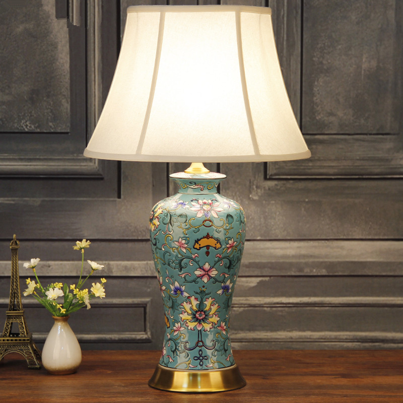 Commercial Table Lamps: China Antique Living Room Vintage Table Lamp Porcelain