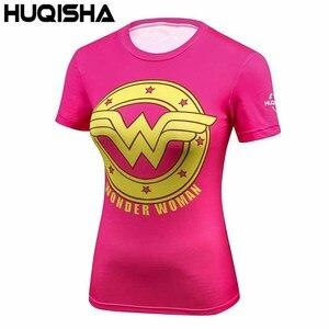 Women Marvel Super Hero Camouflage Pattern 3d Print Shirt Brand Compression Fitness T-shirt Ladies Batman O-Neck Shirt for Women