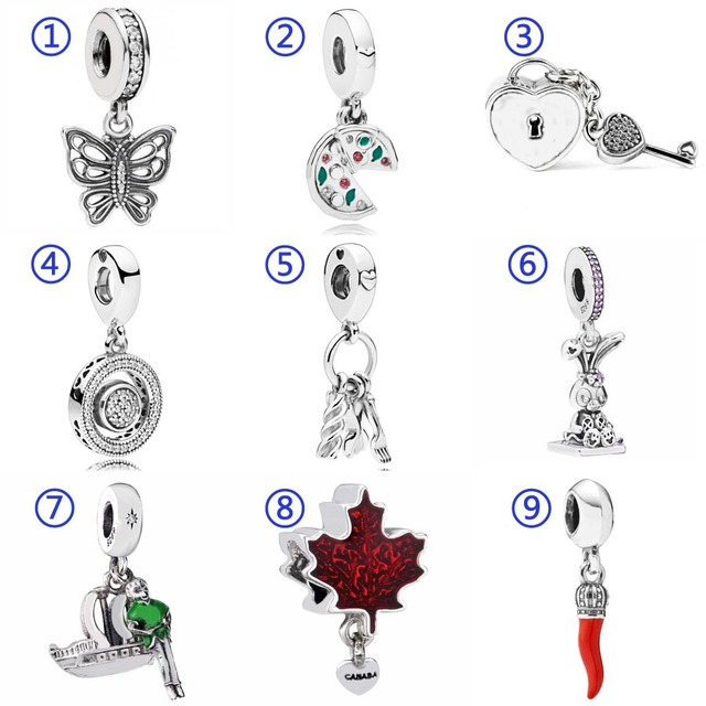 5244b6ff2 Passion For Pizza Spinning Hearts Love Pasta Butterfly Pendant Charm Fit Pandora  Bracelet 925 Sterling Silver Bead Diy Jewelry-in Beads from Jewelry ...