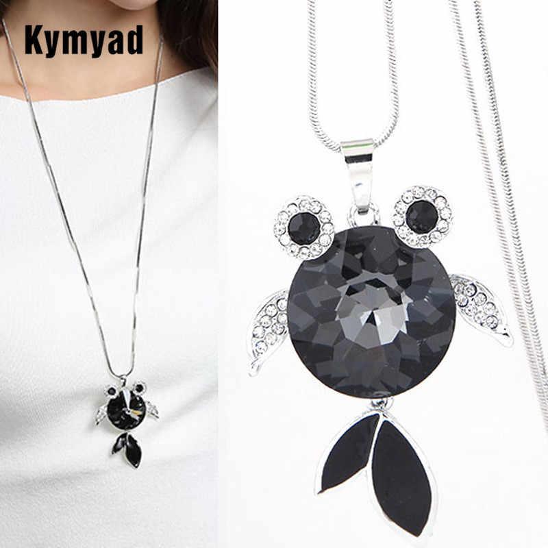 Kymyad เครื่องประดับเครื่องแต่งกายแฟชั่นสร้อยคอยาวผู้หญิงปลาสร้อยคอและจี้ Bijoux Femme เสื้อกันหนาว Neckaces สำหรับสตรี