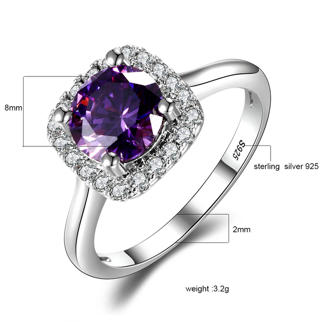 925 Silver Jewelry With Gemstone Ring 1