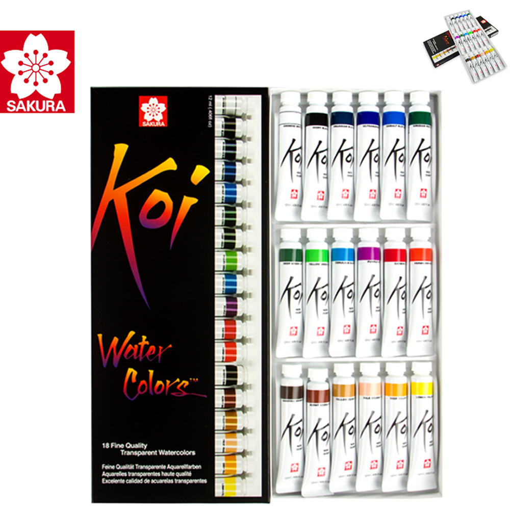 12 ml*18/12 Pieces Gouache Paint Set Gouache Paint Watercolor Paints Art Support Professional Paints For Artists