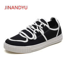 New Design Black Canvas Shoes for Men Casual Breathable Flat 2018 Footwear Mens Lace-Up Fashion Trainers