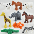 2016 NEW Original Duploe Animal Building Blocks 10pcs/lot Animals Figures Bricks toys Compatible legoINGlys