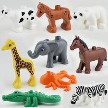 2016 NUEVA Original Duploe Animales Building Blocks 10 unids/lote Animales Figuras juguetes de los Ladrillos Compatible legoINGlys