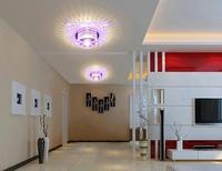3W Modern Ceiling Light Crystal Acryl Brief Lamp Living Room Light Bedroom Acrylic Lamp Home Chandeliers