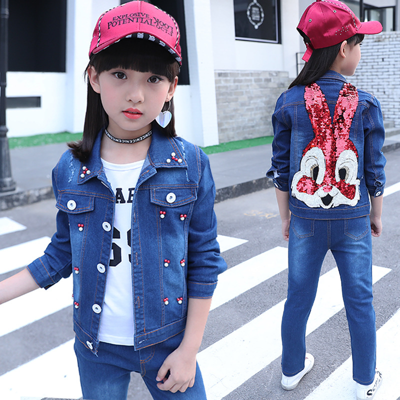 Toddler Girl Winter Clothes Fashion Children Clothing Set Long Sleeve Suit 12 Years T-shirt Jacket Kids Autumn Set Girls 3Pcs 2018 kids girls clothes set baby girl summer short sleeve print t shirt hole pant leggings 2pcs outfit children clothing set