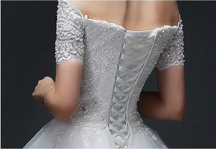 Vestido de Noiva Off-the-ώμου μπάλα φόρεμα - Γαμήλια φορέματα - Φωτογραφία 6