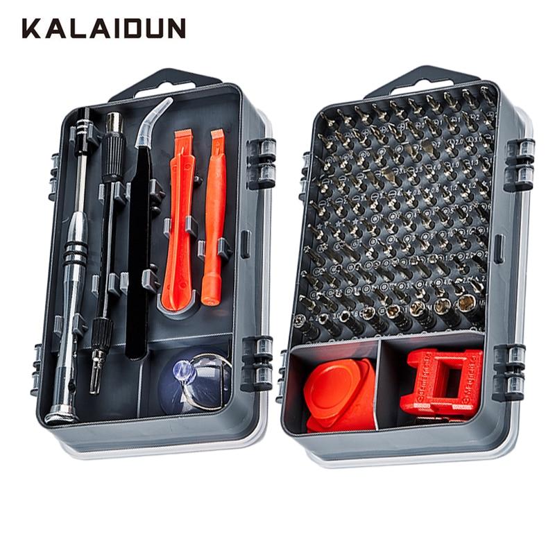 KALAIDUN 112 in 1 Schraubendreher-satz Magnetischen Schraubendreher Bit Torx Multi Handy Reparatur Tools Kit Elektronische Gerät Hand Werkzeug
