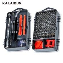 Kit de Herramientas de Reparación de teléfonos móviles con broca de destornillador magnético 112 en 1 de calaidun