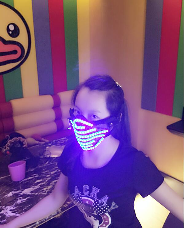 2019 LED RGB Mutilcolor Light Mask Hero Face Guard DJ Mask Party Halloween Birthday LED Colorful Masks for show