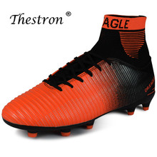 2019 Thestron New Football Shoes 38-45 Mens Soccer Boots Original Sport Sneakers Green Sock