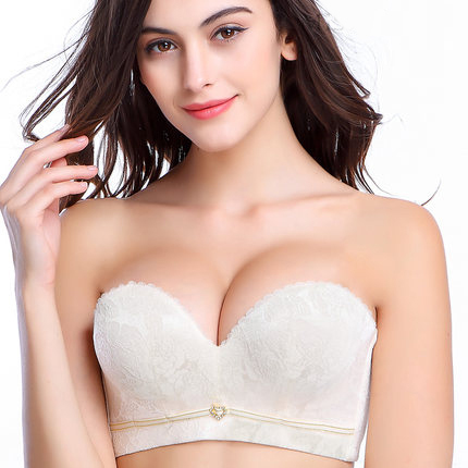 e3bb7850940a6 Sexy Mousse Womens Wedding Bra Push Up Invisible Bridal Bra 1 2 cup Half Cup  Padded Floral Embroidery Party Bra Beige-in Bras from Women s Clothing   ...