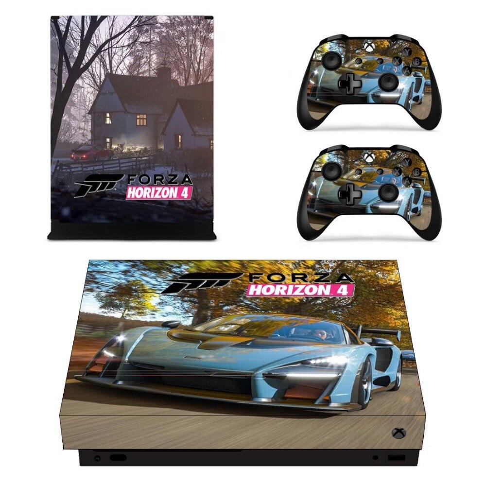 Set completo Faceplate Autoadesivi Della Pelle di Forza Horizon 4 per Xbox One X Console e Due Controller di