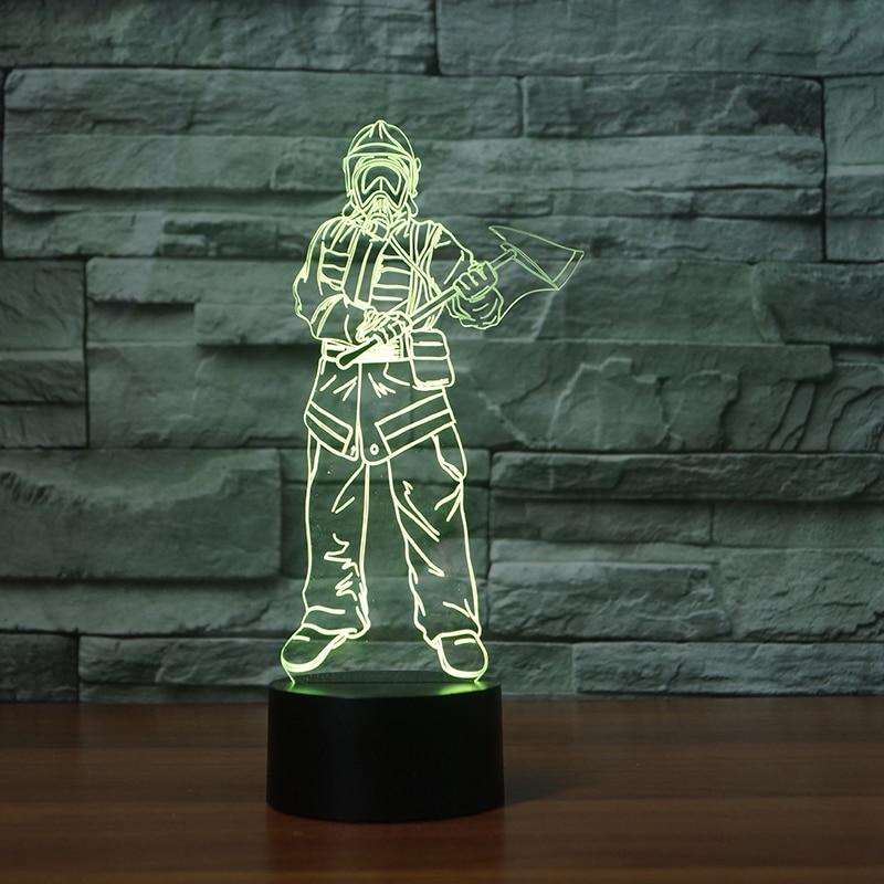 Lights & Lighting Lower Price with 7 Color Change 3d Led Nightlight Visual Star Wars Warrior Usb Kid Bedside Touch Fashion Desk Lamp Baby Bedroom Sleep Light Decor Good Taste