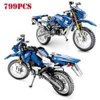 799pcs Diy Technic Series Cruising Motorcycle Vehicle Building Blocks Compatible Legoings Motor Bike Bricks Toys For Children