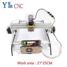 Yuyan DIY Laser Engraving CNC machine, mark cutting machine, mini-plotter Wood Router V5 control system Work area 21*25CM customizable engraving machine control box industrial cnc control cabinet mach3 system 220vac cnc cutting machine