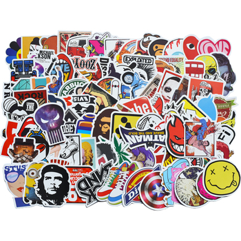 100pcs black and white random stickers graffiti funny sticker for laptop suitcase skateboard moto bicycle car kid s toy stickers 100 pcs/pack Classic Fashion Graffiti Stickers For Moto car & suitcase cool Funny Toy Stickers stickers Skateboard sticker gxtz