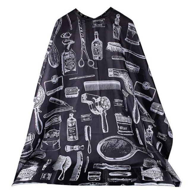 Best Selling products Pattern Cutting Hair Waterproof Cloth Salon Barber Cape Hairdressing Hairdresser Apron Haircut capes N35 ...