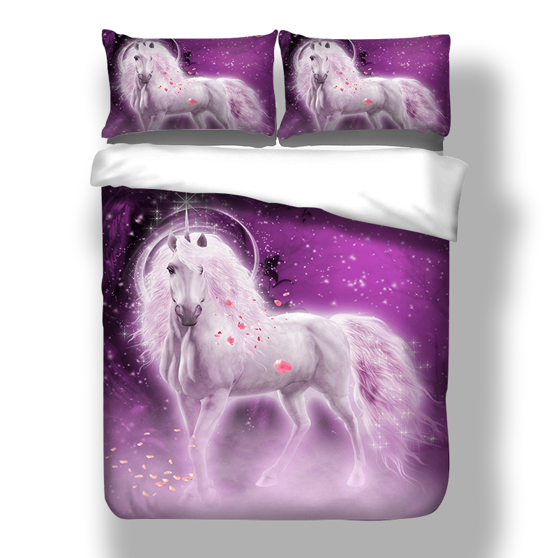 Animal cheval loup Dragon 3d imprimé literie 100% Polyester maison qualité couette housse de couette stes 3 pièces