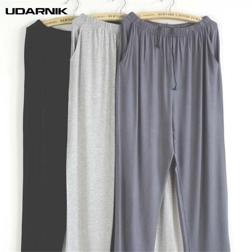 Summer Men Modal Sleep Bottoms Underwear Long Trou