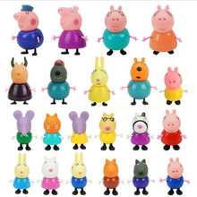 Anime Figure Peppa Pig George Guinea Family Pack Dad Mom Many Styles Action Figure Original Pelucia Toys For Children