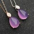 CoLife Joyería 10 ct rosa de cristal colgantes para mujer romántica de la joyería de plata de lujo de regalo gemmstone 925 silverpendant