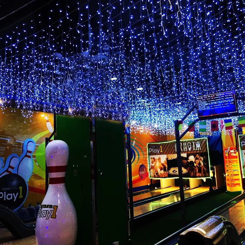 LED Curtain light 6x3M Icicle Curtain String Lights 8 Mode for Wedding Festival Party Ceremony Christmas