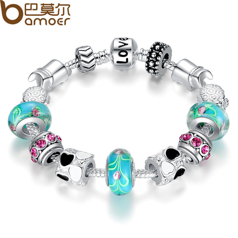 Charms And Bracelets: Aliexpress Hot Sell Silver Charm Bracelet Bangle For Women