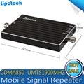 CDMA 850 mhz PCS 1900 mhz Teléfono Celular Amplificador de Señal Móvil de Doble Banda Repetidor de Señal/Amplificador/Receptores de ALC 65dB de Ganancia