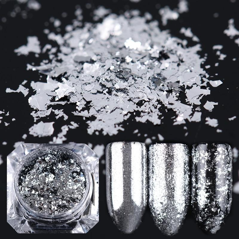 0.2g hopeahiutaleet kynsitaidekynnet glitteri alumiini magic bling - Kynsitaide - Valokuva 1