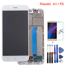 Xiaomi Mi A1 LCD Display + Frame 10 Touch Screen Xiaomi Mi 5X LCD Digitizer Assembly TouchScreen Panel Replacement Spare Parts цены