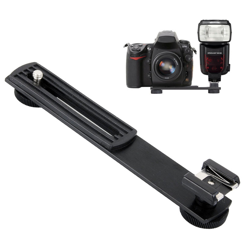 Metal Black Digital DV Camera Flash Light Stand Bracket Hot Shoe Adapter Mount Holder for Canon Nikon Photo Studio Accessories