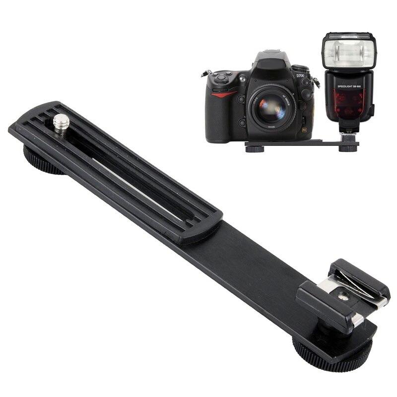 Metal Black Digital DV Camera Flash Light Stand Bracket Hot Shoe Adapter Mount Holder for Canon Nikon Photo Studio Accessories