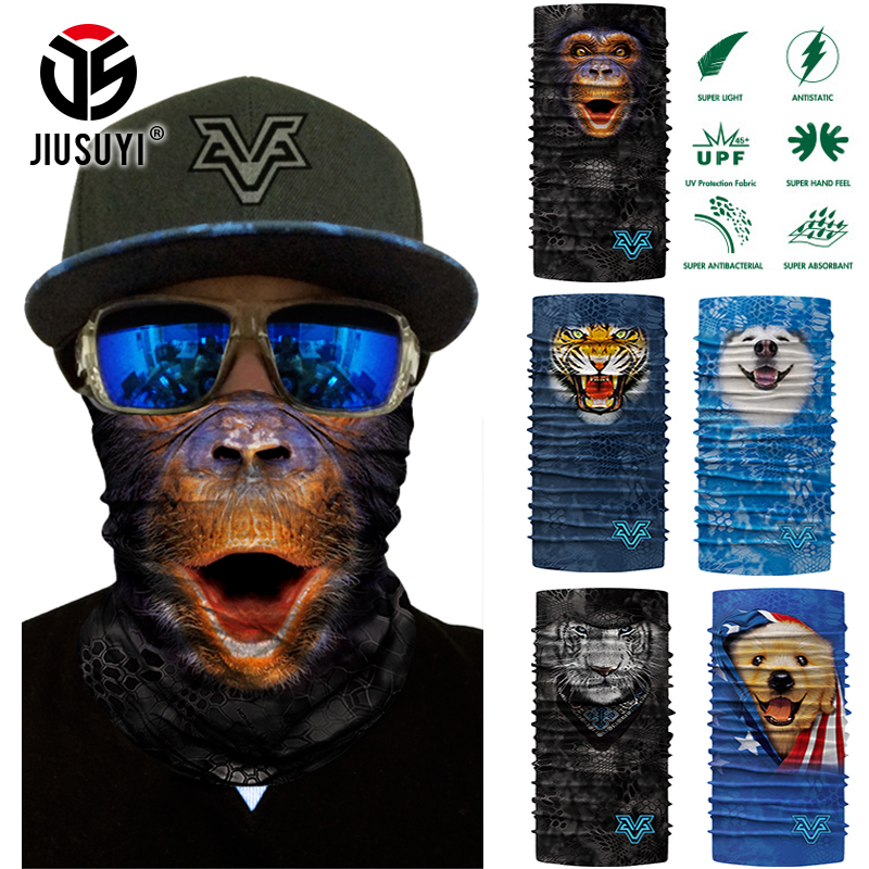 3D Seamless Magic Cute Animal Scarf Neck Warmer Gaiter Face Mask Balaclava Head Bandana Shield Headband Headwear Bandana Bicycle
