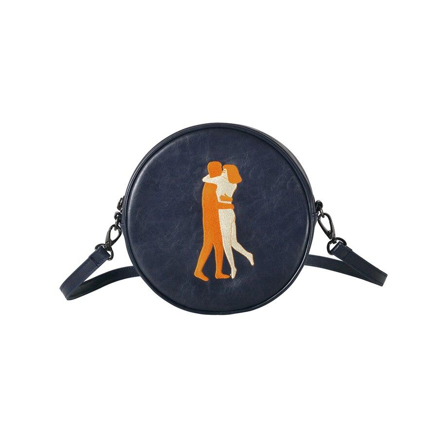 Image 2 - Kiitos Life Circular PU messenger bags for girls original  designed in 2styles(FUN KIK )designer messenger bagmessenger bagbag  designer