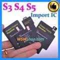 Alta calidad adaptador de cargador del receptor de carga inalámbrica qi pad receptor coil para samsung s3 s4 s5 importado ic más eficiente