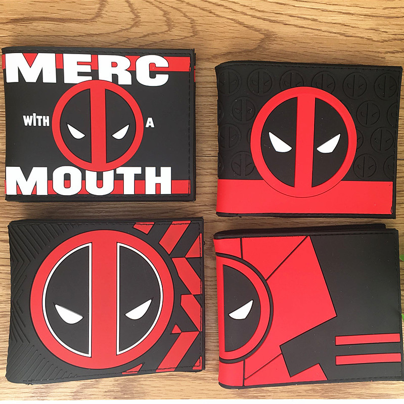 Marvel Avengers 2 Deadpool Wallets Movie Super Heroes Purse Dollar Price Card Money Bags carteira Gift Folded PVC Short Wallet 2016 new arrive pvc and pu leather purse american marvel comic deadpool wallet with card holder dollar price free shipping